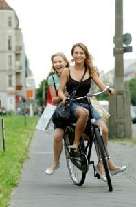 Bloomington Insurance - girls on a bike