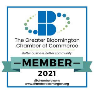The Greater Bloomington Chamber of Commerce - We're a Member Badge